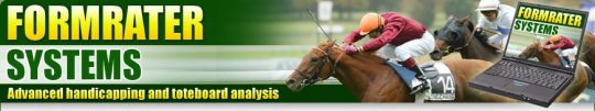 Formrater Advanced windows software for horse racing analysis
